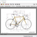The initial RattleCAD screen gives you a road bike template to work with.