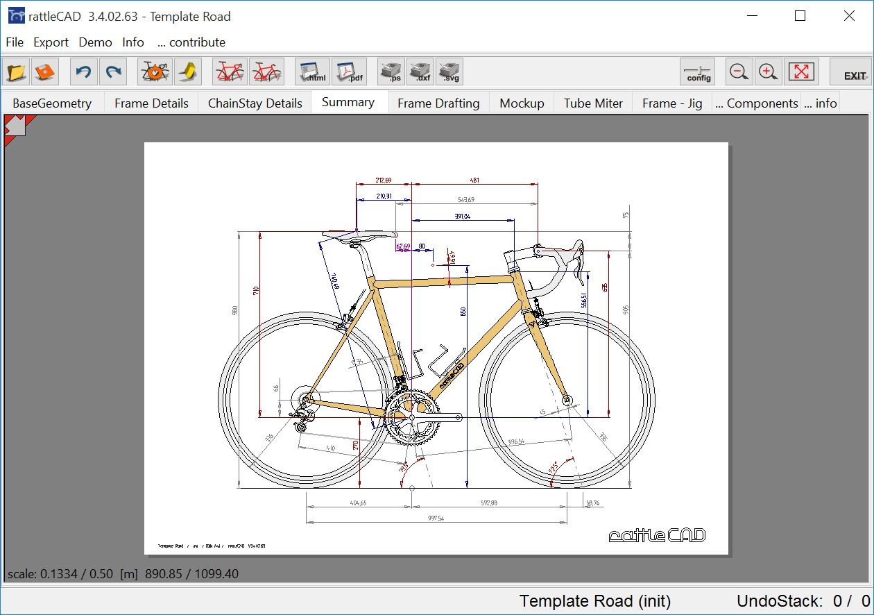 Spanner Bikes | Introducing rattleCAD – open source frame design ...